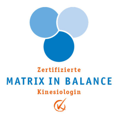 Zertifizierte Matrix in Balance Kinesiologin Logo. Kinesiologie. Heilpraxis Monika Reisinger-Ausfelder Bayerbach, Ergoldsbach, Landshut, München